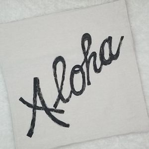 Hand Painted Aloha Accent Pillow Cover
